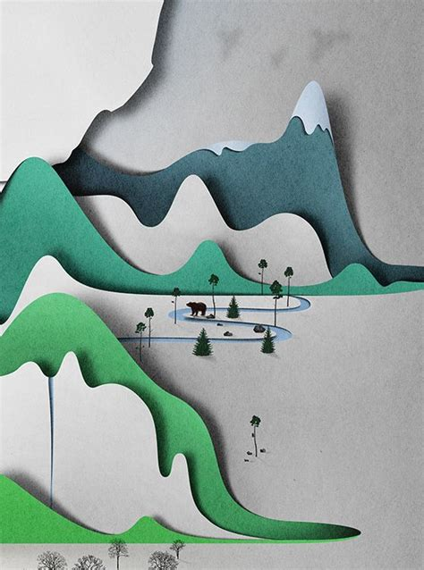 mountain crafts for eiko ojala s quot paper quot landscapes are cool and paper free