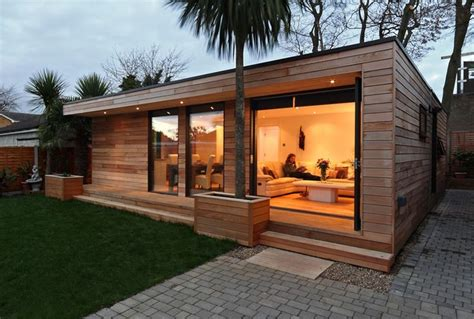 modern prefab guest house prefab guest house dadchelor pad pinterest gardens bespoke and outdoor buildings