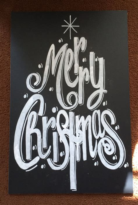 merry christmas chalkboard sign by beautifullychalked on etsy