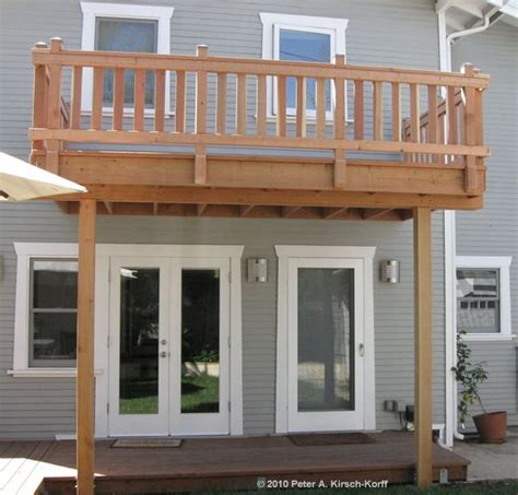 1st floor veranda design 2 story deck designs los angeles wood decks composite