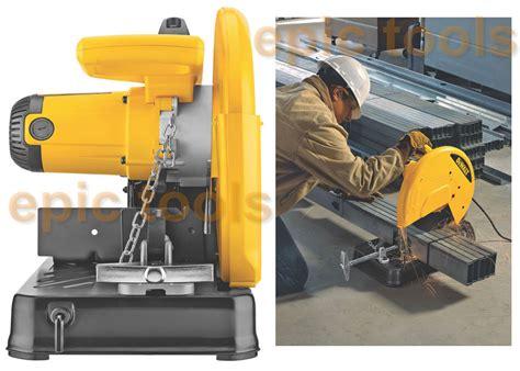 Dewalt Chop Saw 355mm D28710 dewalt 110v d28710 355mm 14 quot metal chop mitre cut saw