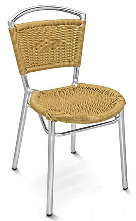 Wicker Back Chairs by Wicker Seat And Back Side Chair W Aluminum Frame