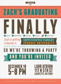 college graduation invitation template free typography style college graduation invitation