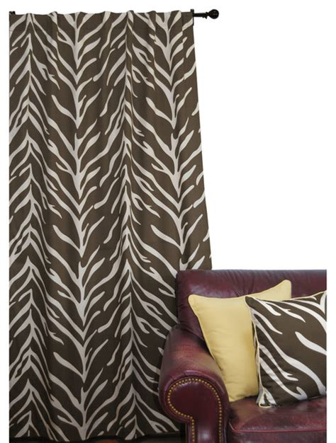 zebra print curtain panels ez living home zebra window panel 84l cream on brown
