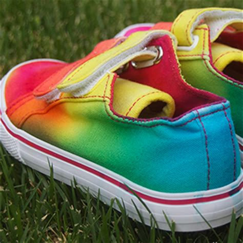 tie dye shoes diy rainbow tie dye shoes craft by photo