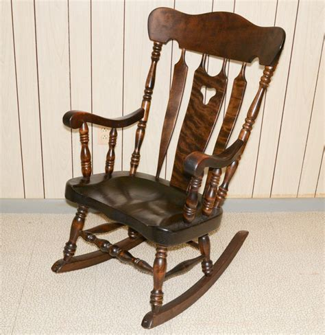 Bent And Brothers Chairs by S Bent Bros Colonial Style Rocking Chair Ebth