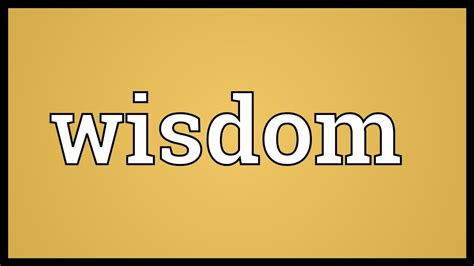 The Wisdom Of Some by Wisdom Meaning