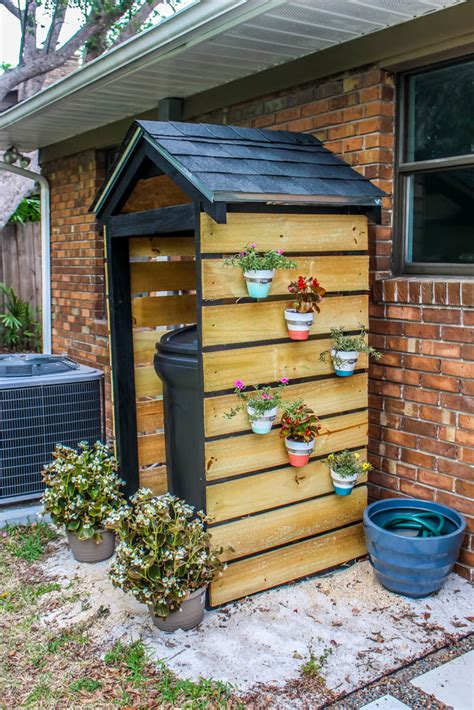home project diy trash  shed  curb appeal