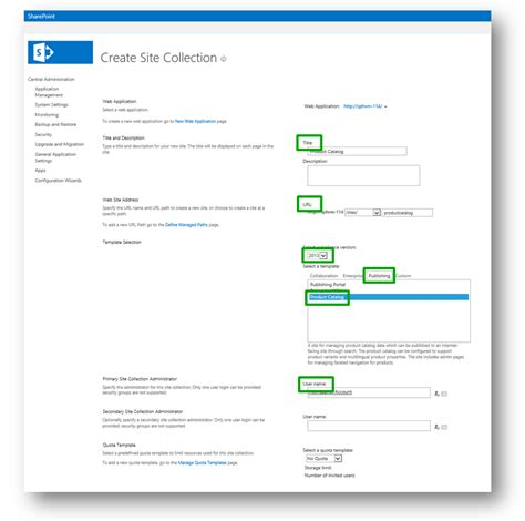 sharepoint 2013 product catalog site template gallery