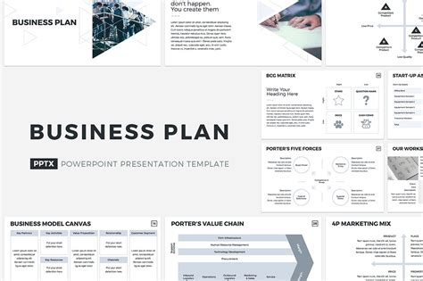 Business Plan Powerpoint Template Presentation Templates Creative Market Free Business Plan Presentation Template Powerpoint