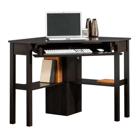Corner Computer Desk For Home Sauder Beginnings Collection 46 In Corner Computer Desk In Cinnamon Cherry 412314 The Home Depot