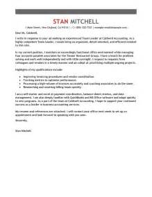 team leader cover letter exle leading professional team lead cover letter exles