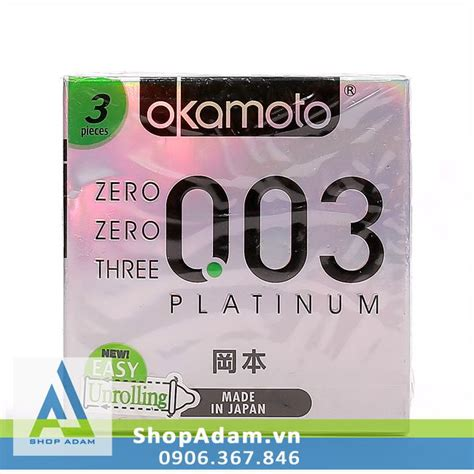 Okamoto Platinum 0 03 bao cao su okamoto zero zero three 0 03 platinum shopadam vn