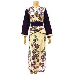Gamis Remaja Warna Ungu baju dan busana muslim wanita gamis batik putih ungu