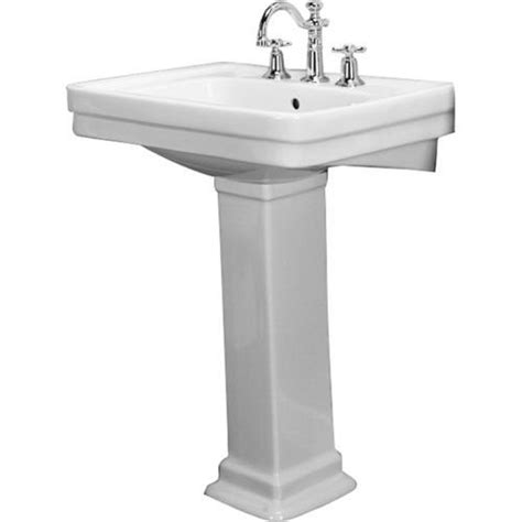 Barclay Pedestal Sink barclay sussex 660 pedestal sink 8 quot widespread at menards 174