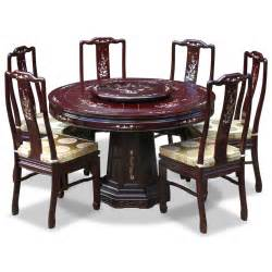 Chinese Brass Vases Antique Dining Table Oriental Round Dining Table