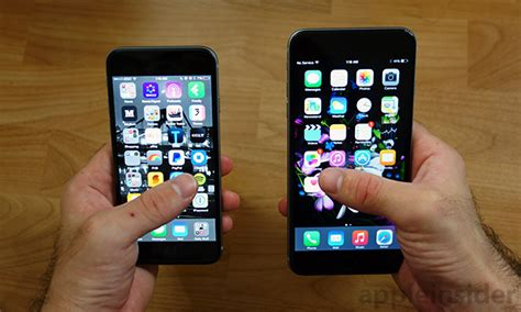 bid iphone going big a review of apple s new 4 7 quot iphone 6 vs the 5
