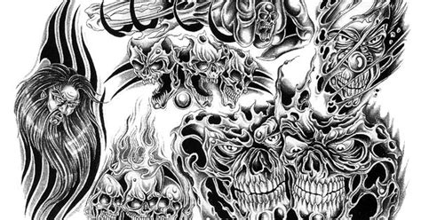 ascendance by xr32 on deviantart black and white skull designs with