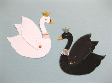 Swan Paper Craft - paper swans with moveable wings crafty