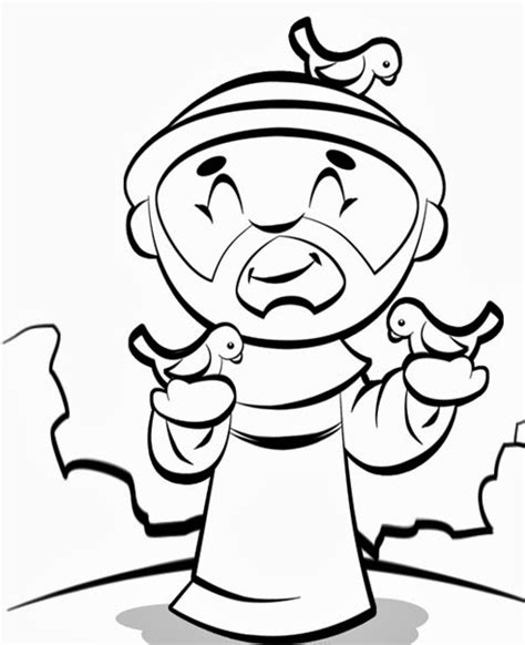 stfrancisofassisi colouring pages page 3