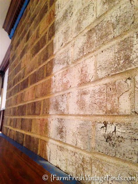 chalk paint on brick how to whitewash brick farm fresh vintage finds