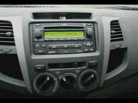 toyota hilux radio unit removal remove radio