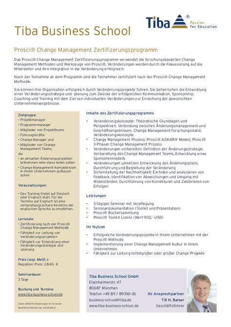 Mba Ie Business School Linkedin by Prosci 174 Change Management Zertifizerung Infosheet