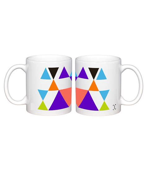 clixicle white ceramic designer coffee mug pack of 2 buy online at best price in india snapdeal clixicle white ceramic geometric coffee mug buy online at