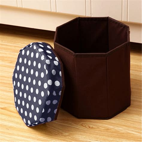 Jysk Storage Stool Navy Blue household multifunctional folding seating storage stool