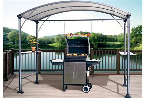 bbq gazebo abba patio 9 x 5 outdoor backyard bbq grill