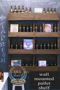 how to make wall mounted pallet shelf diy crafts
