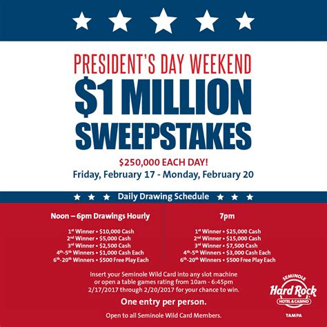 Unclaimed Sweepstakes Prizes - everything you need to know about our february sweepstakes seminole hard rock ta blog