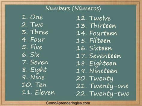 preguntas frecuentes para aprender ingles los numeros en ingles para aprender ingles rapido y facil
