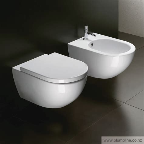 2 In 1 Toilet And Bidet by Sfera 54 Wall Hung Toilet With Standard Seat Toilets