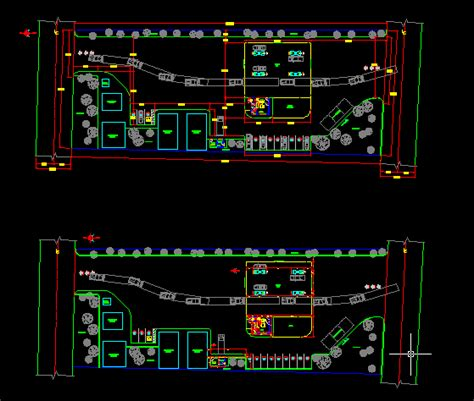 gas station plants dwg block  autocad designs cad