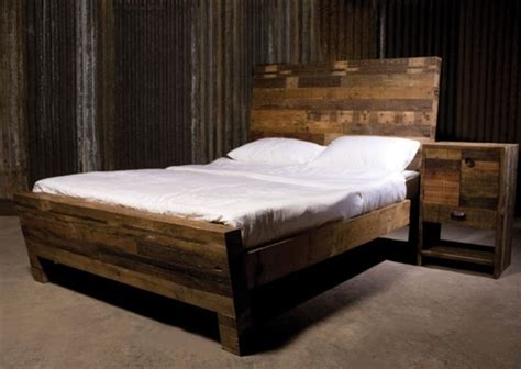 rustic wood beds eclectic beds