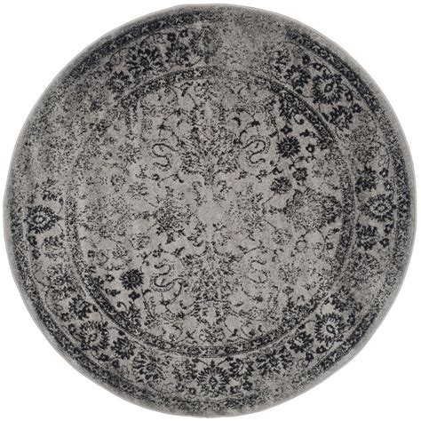 Safavieh Adirondack Grey Black 6 Ft X 6 Ft Round Area 6 Foot Area Rugs