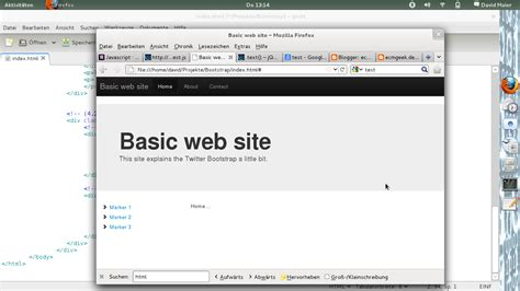 bootstrap 3 tutorial create your first one page ecmgeek de first contact with bootstrap