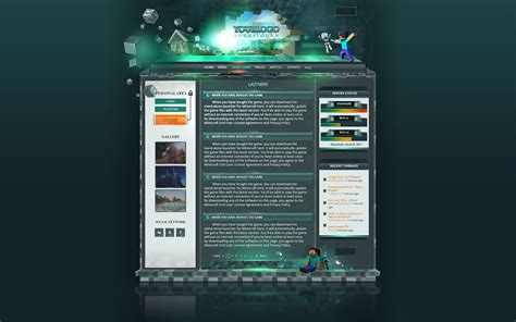 Minecraft Website Template Minecraft Website Template