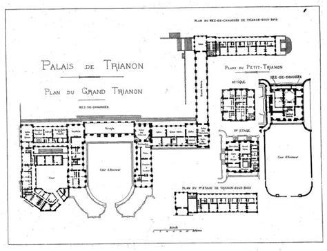 le petit trianon floor plans les plans d 233 tage du grand trianon