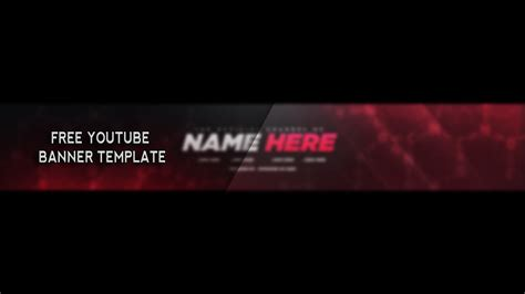 free youtube banner psd template 2017 youtube within banner