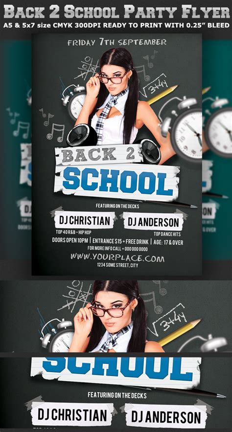 Back To School Party Flyer Template V2 On Behance Bash Flyer Template V2