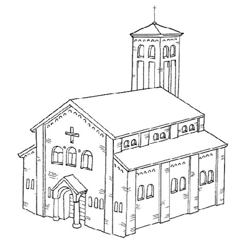 imagenes de iglesias catolicas para colorear la iglesia catolica para colorear imagui