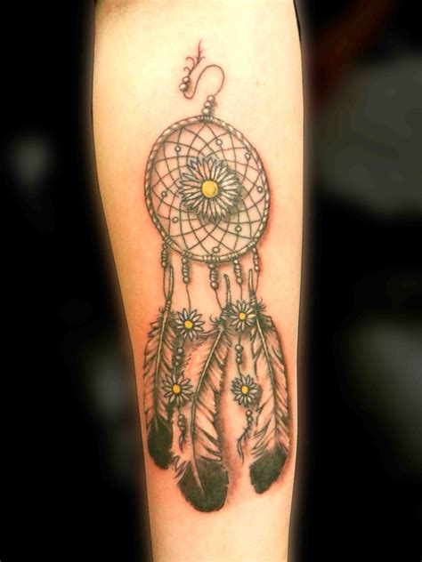 girly flower tattoos truro dreamcatcher cyrus flower indian