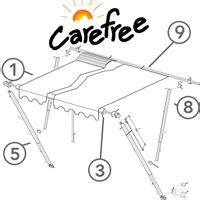 Carefree Awning Parts Carefree Fiesta Universal Hardware Kit White Suit