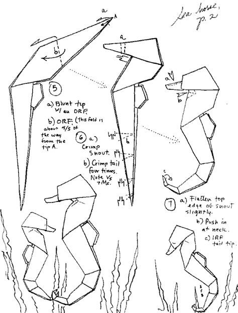 How To Make A Paper Seahorse - barbour origami