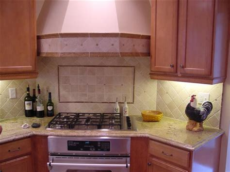 kitchen with stone backsplash tumbled stone kitchen backsplashes