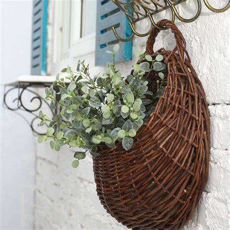 design hanging flower baskets aliexpress com buy new rattan flower baskets wall decor