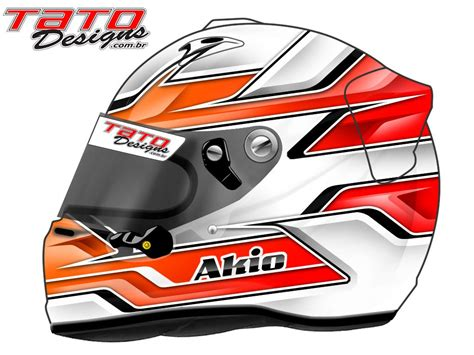 design car helmet racing helmets garage arai gp 6 akio by tato designs