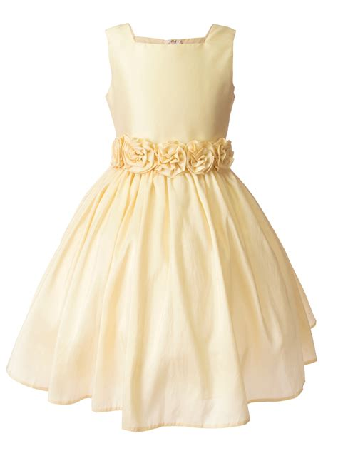 Flower Dress notion light yellow flower dress with rolled